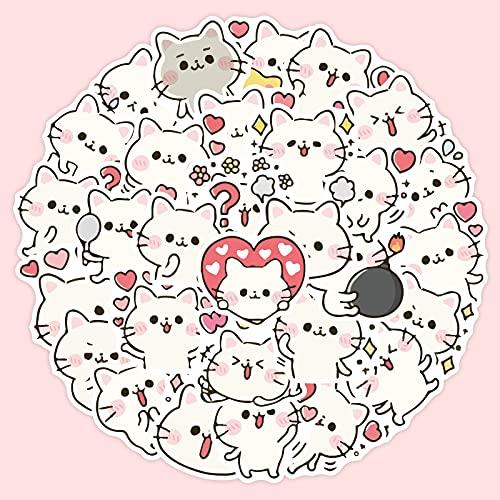 Pegatina de cuentas de gato lindo con diseño de gatito mano cuenta álbum DIY decoración pegatinas 40 hojas