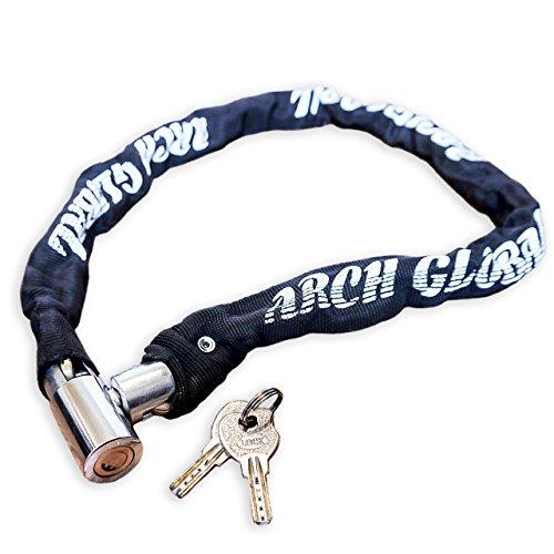 ARCH GLOBAL 【サイクル店員が推奨する】自転車 鍵 チェーンロック 《軽量仕様》85cm ロードバイク 鍵 (ス...