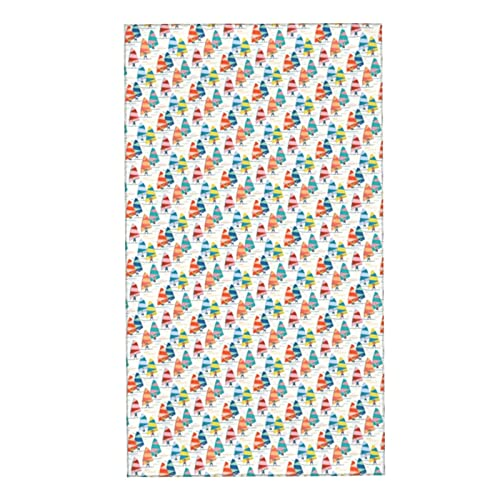 Toallas de mano decorativas muy absorbentes toalla de cara suave Windsurf Xs escala blanca para baño 27.5 x 15.7 pulgadas