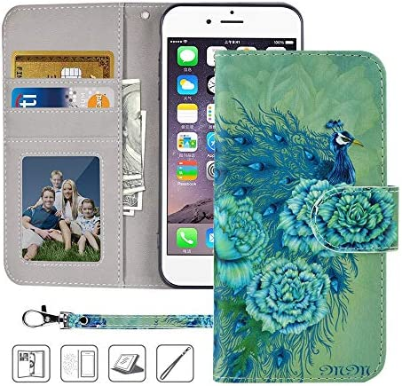 MagicSky iPhone 8 Wallet Case iPhone 7 Wallet Case Premium PU Leather Flip Folio Case Cover product image