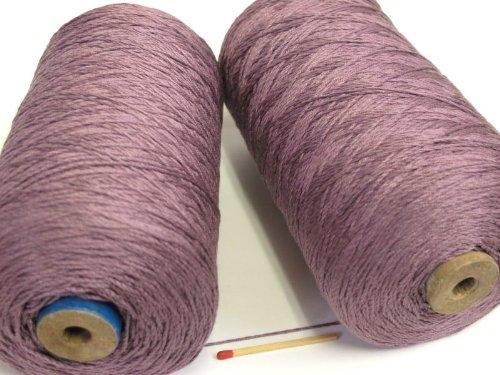 絹紡(太)(紫) しっとり、しなやかな扱いやすい絹糸です