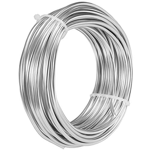 BELLE VOUS Filo Alluminio per Bigiotteria (10 m) - Filo Alluminio 3mm Rotoli Flessibili - Filo Modellismo Faidate, Sculture, Gioielli, Perline, Ghirlande e Alberi Bonsai