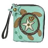 Chala Sea Turtle Zip-Around Wallet/Wristlet