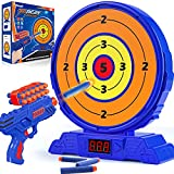 KMUYSL Shooting Game Toy for Age 5 6 7 8 9 10+ Years Old Kids, Boys - Digital Electronic Scoring Auto Reset Shooting Targets with Foam Dart Toy Gun - Ideal Gift - Compatible with Nerf Toy Guns