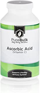 PureBulk Pure Ascorbic Acid (Vitamin C) Powder (120ct 1000mg Gel)