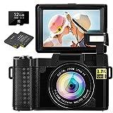 Digital Camera Vlogging Camera 30MP Full HD 2.7K Vlog Camera with...