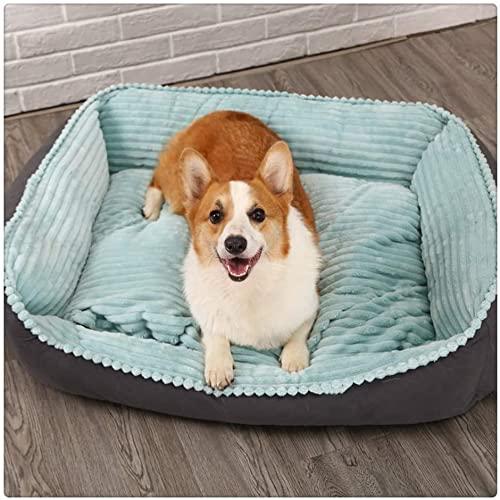 Rcsinway Cama para mascotas, gatos, invierno, cálido, grande, para grandes, lavables, súper suaves y acogedoras, azules, 5 kg (tamaño: 15 kg, color: azul)