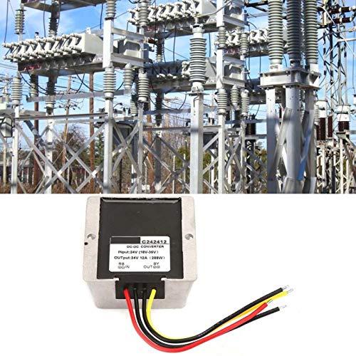 Regulador de voltaje de durabilidad Calidad Premium Boost/Buck Regulador de voltaje Auto Step Up/Down Converter para equipos eléctricos industriales/vehículos (12A)
