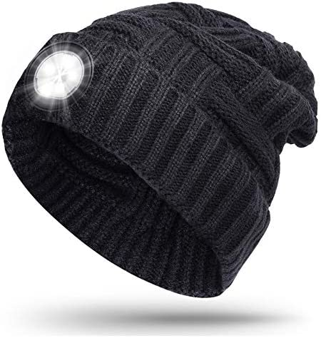 LED Beanie Light Hat Cool Gadget Gifts for Men Women 5 LED Headlamp 3 Modes Dim Bright Strobe product image
