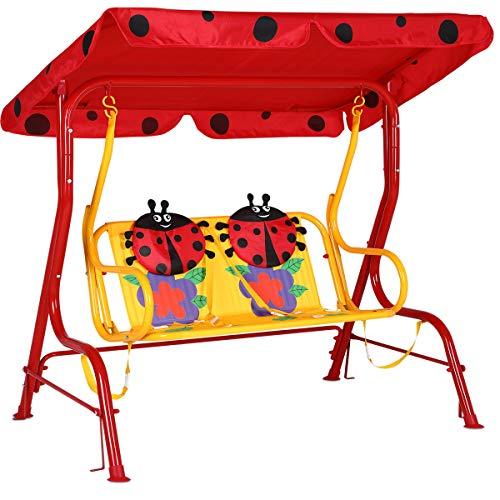 Spielwerk altalena dondolo Hollywood con parasole e cinte di sicurezza 2 posti panca doppia a dondolo con tetto da giardino o terrazza