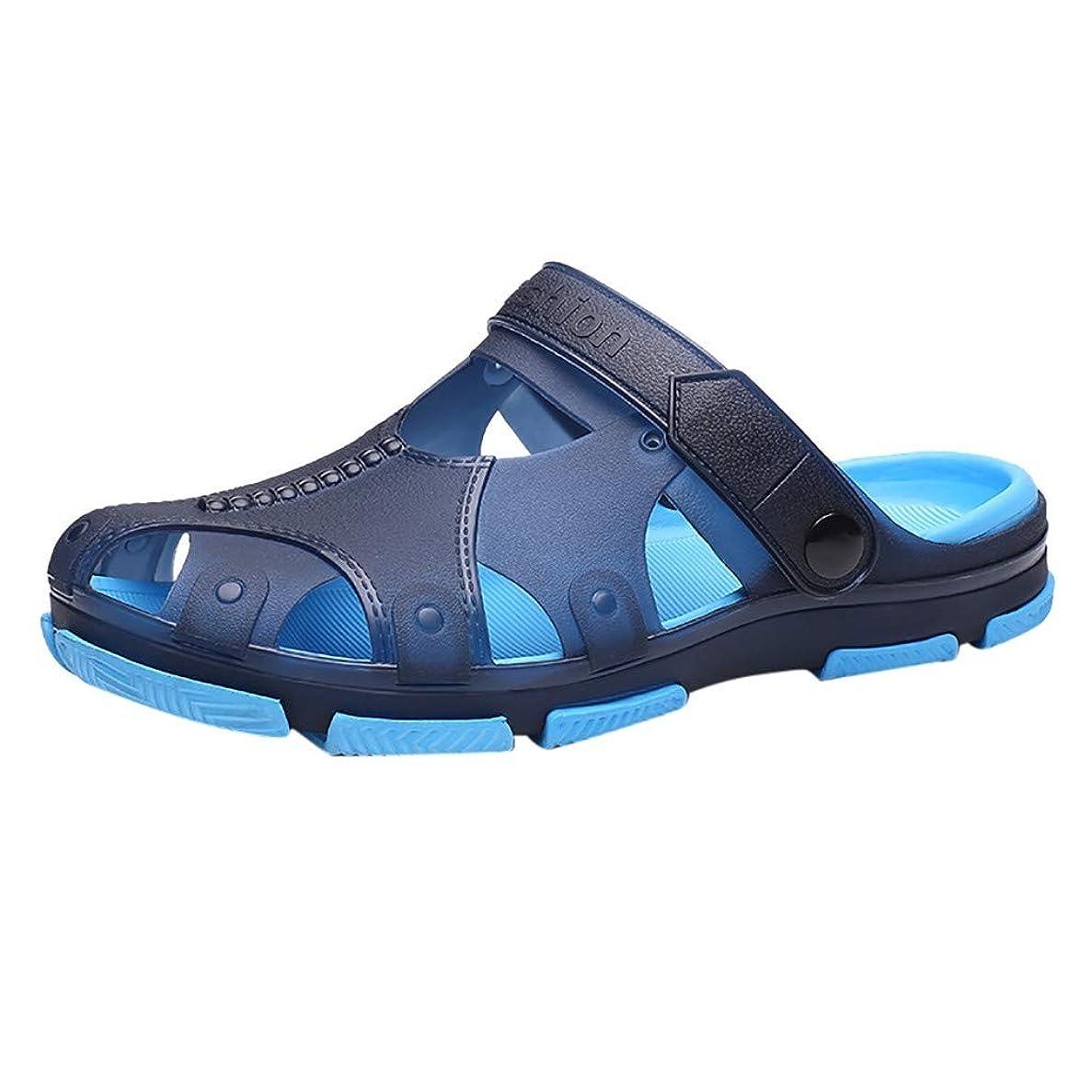 抑止する壊れたせっかちWyntroy メンズスリッパ メンズ シューズ ファッション 夏秋 ぺたんこ靴 ビーチサンダル 室内 滑り止め スリッパ 男の子 履物 屋外の ビーチスリッパ サンダル 穴の靴