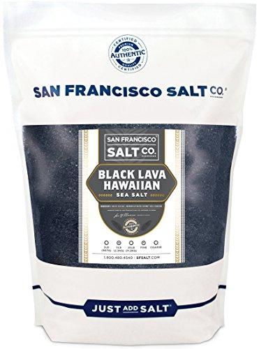 Black Lava Hawaiian Sea Salt - 5 lb. Bag Fine Grain by San Francisco Salt Company