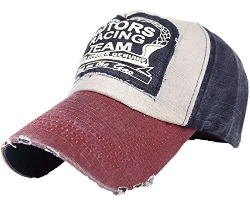 Gorra de Béisbol de algodón con visera multicolor Nave red Regular