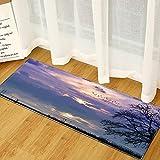 Alfombras de Dormitorio Decorativas nórdicas, felpudos de Cocina para el hogar, alfombras absorbentes Antideslizantes para pasillos de baño A5 60x180cm
