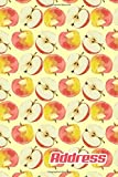 Address.: Address Book. (Vol. C74) Apple Fruit Cover Design. Glossy Cover,Contract Large Print, Font, 6' x 9' For Contacts,...