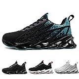 Basket Femme Homme Chaussure Outdoor Running Gym Fitness Sport Sneakers Style Multicolore Respirante 40-47EU,40 EU,Noir Bleu