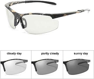 FRGTHYJ - FRGTHYJ Gafas de Sol fotocromáticas Hombres Camaleón polarizado Decoloración para Hombre Cambio de Color Gafas de Sol Conducción Gafas Camuflaje
