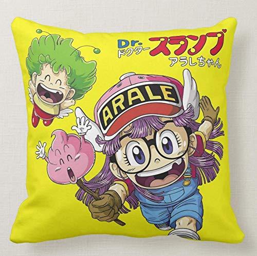 Pillow Cuscino Personalizzato 40X40 Arale NORIMAKI Arale E Dr. Slump - Anime Mange Cartone Anni 80-1 - Idea Regalo