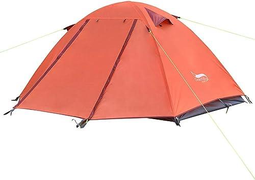 1 Tente de Festival pour Homme, Double Couche avec Foyer Tentes en Aluminium, imperméable à l'eau Famille Tente de Camping Alpinisme Tente d'équitation