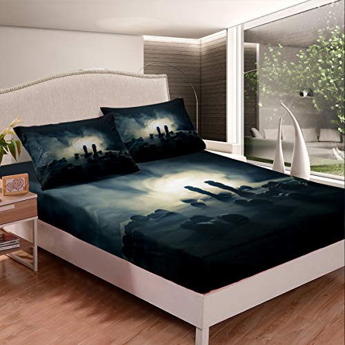 Castle Fairy Silent Struggle International Chess Kids Duvet Sheet Twin 3D Chess Print Teens Youngs Bed Sheet Microfiber Warmly 2 PCS Fitted Sheet Sets(1 Fitted Sheet 1 Pillow case)