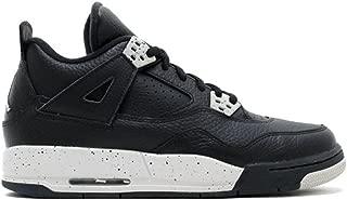JACKWOLDMIN Men's Escape Sneakers AIR JORDAN 4 RETRO BG (GS) OREO 408452 00 Athletic Sport Basketball Running Sneaker
