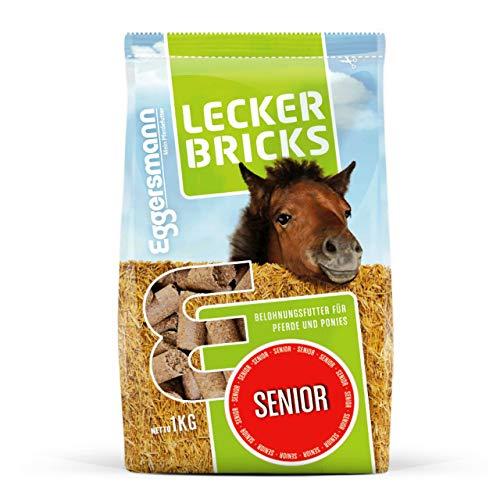 Eggersmann Lecker Bricks Senior – Leckerlies für ältere Pferde und Pferde mit Zahnproblemen – Pferdesnack im 1 kg Beutel