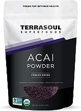 Terrasoul Superfoods Organic Acai Berry Powder, 4 Oz - Freeze-Dried   Antioxidants   Omega Fats