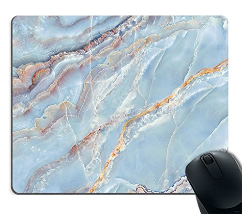 Smooffly Gaming Mouse Pad Custom,Blue Marble Texture Non-Slip Rubber Mouse Pad 9.5x7.9 Inch
