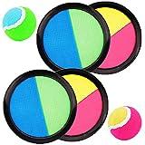 WENTS Klettballspiel 19 cm in Premium Qualität Fangballspiel Klett-Ballspiel für Kinder & Erwachsene Hochwertiges Fangball-Spiel ideal als Spielzeug & Beschäftigung für Draussen im Garten
