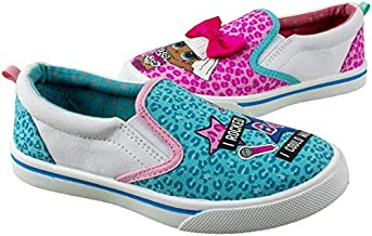 L.O.L. Surprise! Girls Tennis Shoe,Slip On Sneaker,Low Top Fashion Tennis Shoe,Changes Color in UV Sunlight,Girls Size 10 to 2 (Pink Blue, Numeric_1)