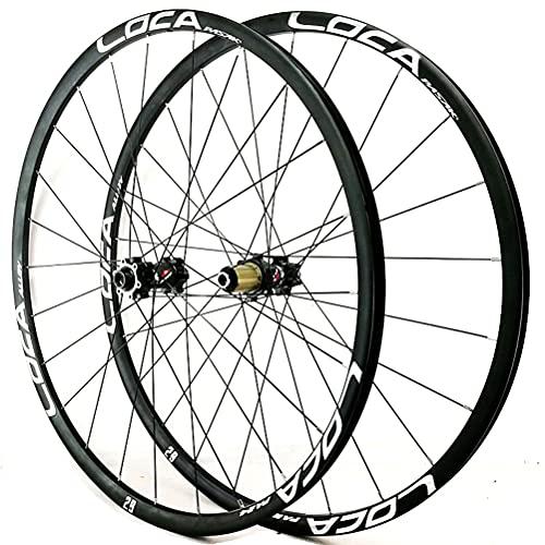 Zatnec Ciclismo Ruedas Rueda Bicicleta 26/27.5/29 Pulgadas Montaña Freno Disco Volante Cassette 7/8/9/10/11/12 Velocidad Llantas Delantera Y Trasera Eje Pasante 1600g (Color : A, Size : 27.5inch)