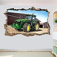 UYEDSRウォールステッカーファームトラクターウォールマウントステッカー3Dアート壁画画像オフィス家の装飾50x70cm