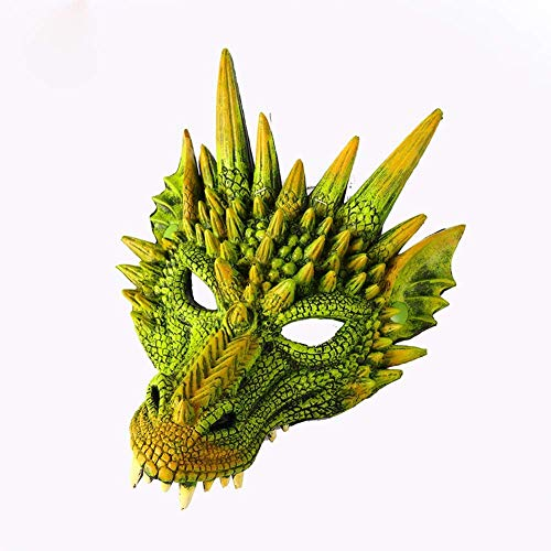 aasdf Halloween Dragon King, Scary Dragon King Props, Halloween Carnival Party Decoration 30 * 21cm, Green