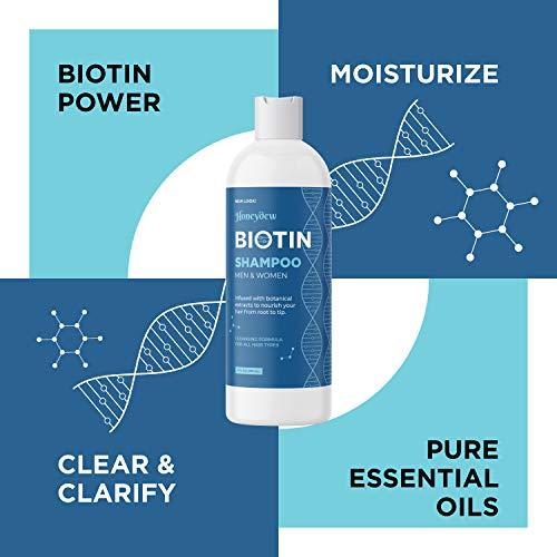 Biotin Shampoo for Hair Growth B-Complex Formula for Hair Loss Removes DHT for Thicker Fuller Hair Anti Dandruff Formula with Zinc Tea Tree Oil Extract Jojoba Oil Argan Oil For Women and Men 8 oz