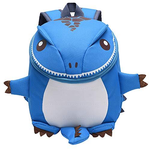 Mochila escolar de dibujos animados para niños, mochila con forma de dinosaurio, para niños y niñas de 2 a 5 años, azul (Azul) - 3815|69046016003|299527