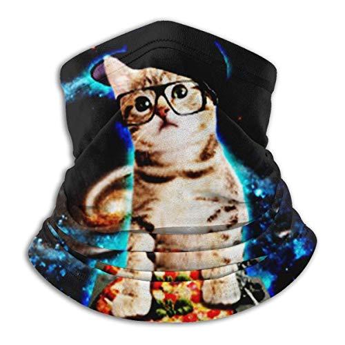 ShiHaiYunBai Tour de Cou Cagoule Microfibre Chapeaux Tube Masque Visage, Fleece Neck Warmer - Funny Cat Neck Gaiter Tube, Bandana, Headband & Beanie