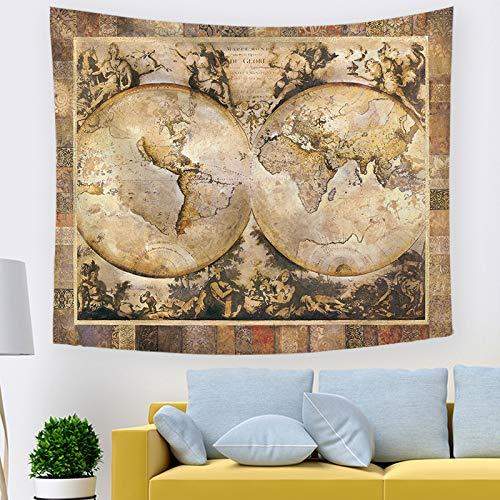 mmzki Wandtuch Kunst Tapisserie Export hängende Schlafzimmerdekoration Nordische Weltkarte 211363 230 * 150cm