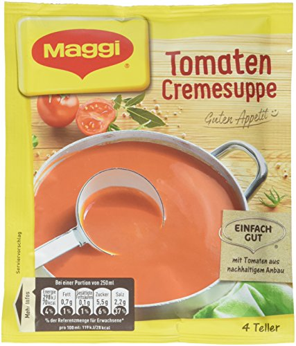 Maggi Guten Appetit Suppe Tomaten Cremesuppe, 28er Pack (28 x 84 g)