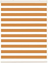 LIQICAI Roller Shades for Windows Zebra Roller Blinds Horizontal Window Shade Day and Night Blinds for Home Decor Office Shading, Orange, Multiple Sizes (Color : Orange, Size : 90cmx120cm)