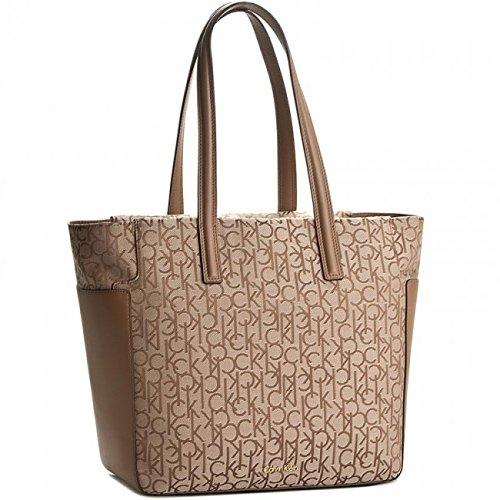 Calvin Klein - Nin4 Logo Small Tote, Bolsos totes Mujer, Brown (Brownie), 10x1.5x20.5 cm (W x H L)