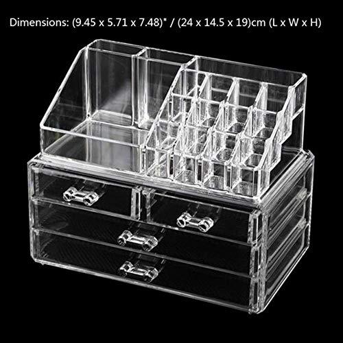Homie 120 Grids Desktop Storage Box Excellent Support de Vernis à Ongles en Acrylique pour Accessoires pour Les Ongles Applicable à l'affichage des Bijoux pour Les Ongles, 02