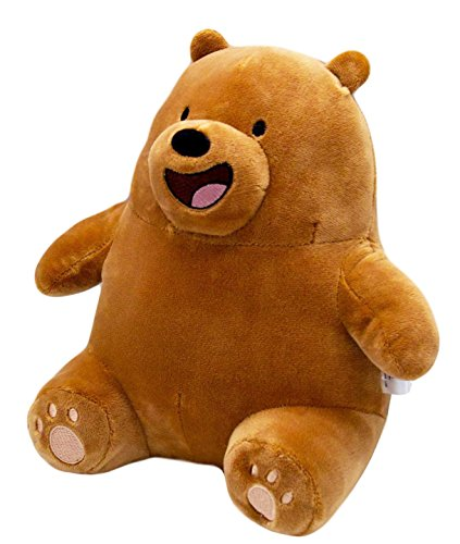 We Bare Bears Cartoon Character Stuffed Animals Grizzly Sitting Teddy Bear Gift