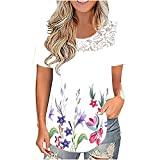 Summer Tops for Women Lace...