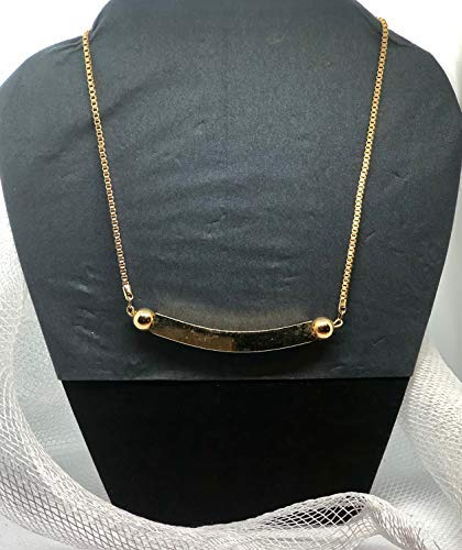 Alternative dealer Gold Simulated Pendant Chain Industry No. 1 Necklace