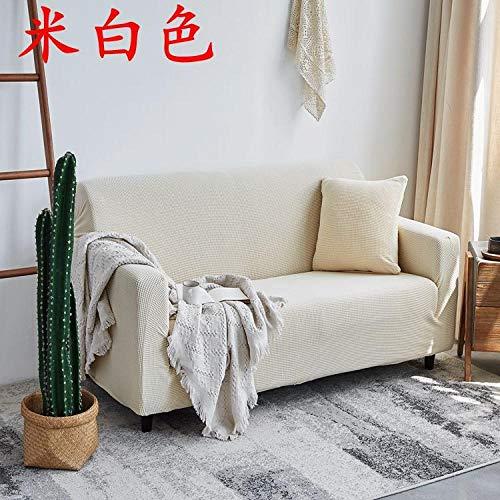 Topashe Funda de Sofá Elástica Punto,Funda de sofá elástica Gruesa, Cubierta de sofá de Punto con Todo Incluido Blanco Doble 145-185cm,Sillón Elastano Fundas de Sofá