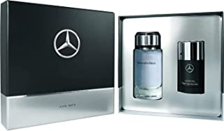 Mercedes-Benz for Men - Eau De Toilette and Deodorant Stick - 2 Piece Gift Set for Men - Amber and Dry Wood Scent - Signature Mix of Spices and Woods - 3.4 oz Eau De Toilette, 2.6 oz Deodorant Stick