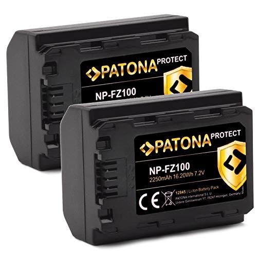 PATONA Protect V1 (2X) Akku NP-FZ100 (2250mAh) ohne Verwendungseinschränkung (GenerationIV)