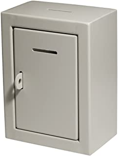 MCB - Classic Metal Box - Donation Box - Comment Box - Secure Collection Box - Ballot Box - Ticket Box - Easy Wall Mountin...