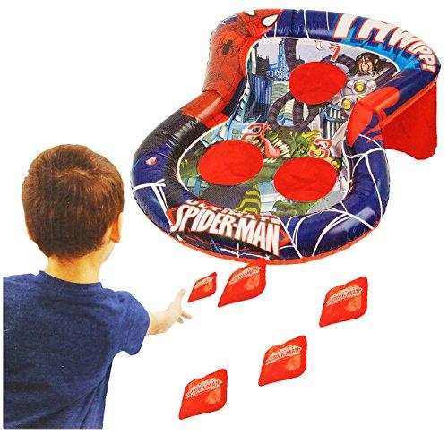 alles-meine.de GmbH Wurfspiel -  Spider-Man  - für Draussen & Drinnen - aufblasbar - Bean Bag Kugeln / Ballspiel - Bälle - für Kinder - Jungen - Spiderman - Partyspiel Kinderge..