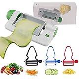 4 Pack Mandoline Slicer Cheese Slicers Crinkle Cutter Food Shredder, 7-In-1 Adjustable Graters...